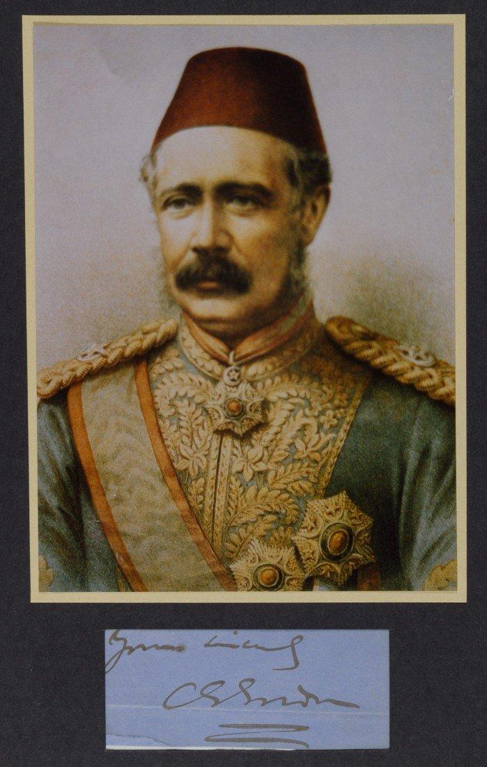 22: Charles George Gordon, English General, Cut Signatu