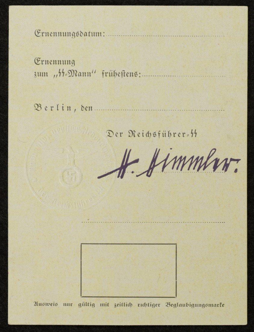 122: Heinrich Himmler, Reichsführer of the SS, Signed C