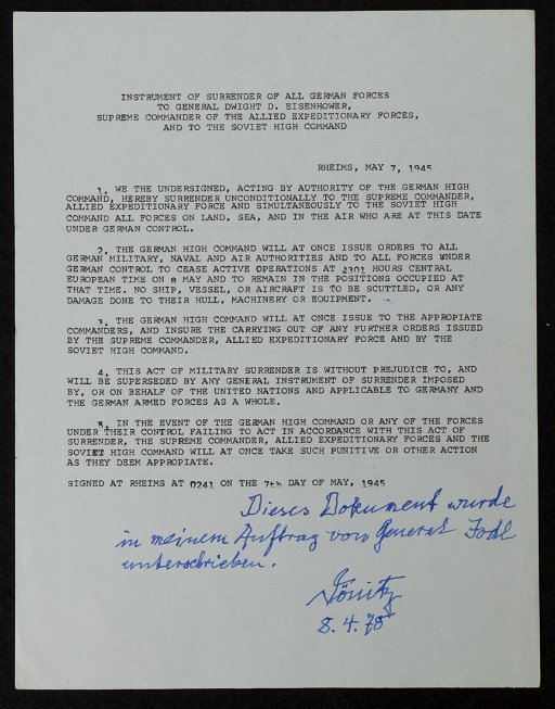 317: Admiral Durnitz and General Yodel, Signed Letter