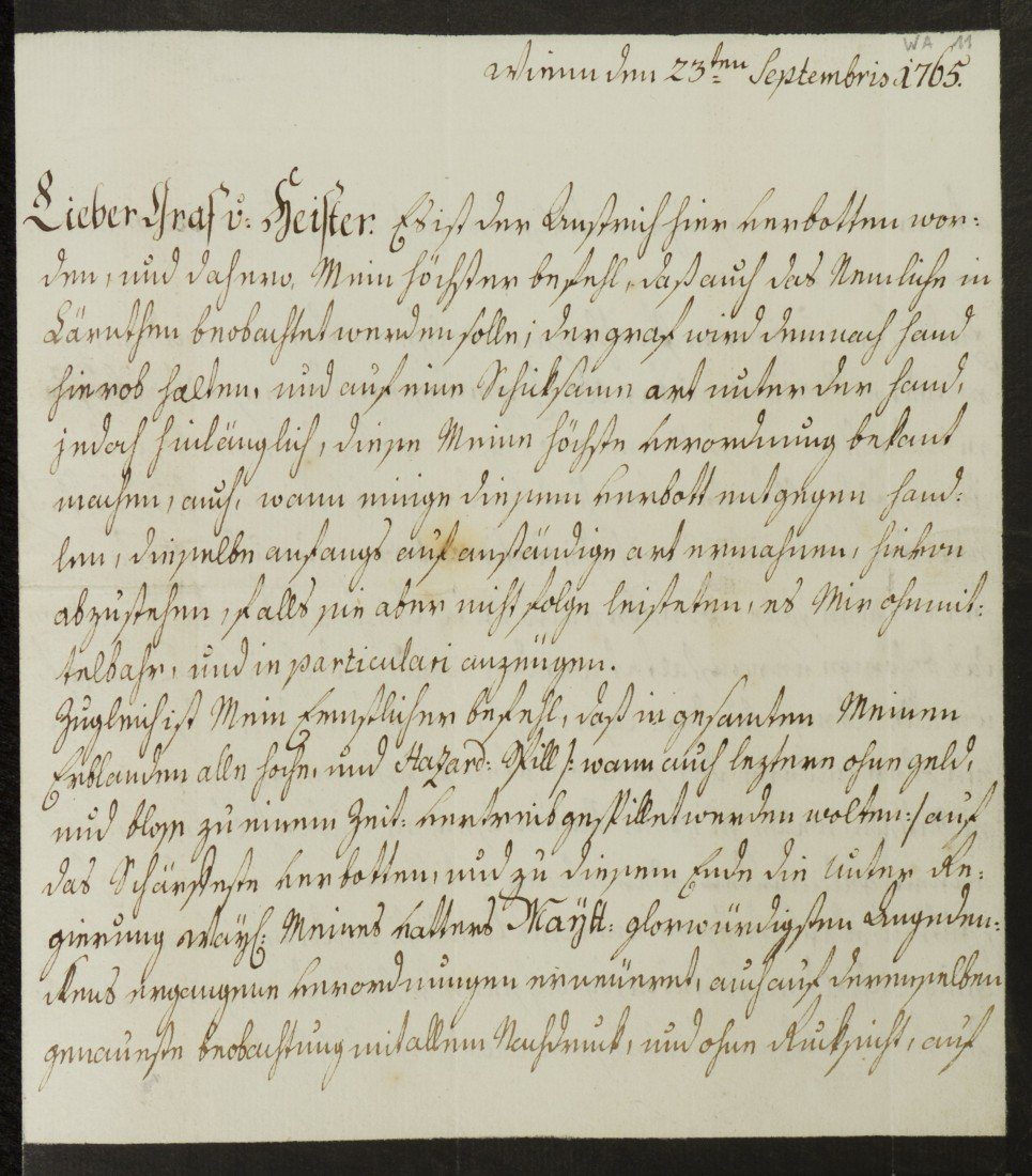 1A: Maria Theresa, Empress of Austria, Signed Letter