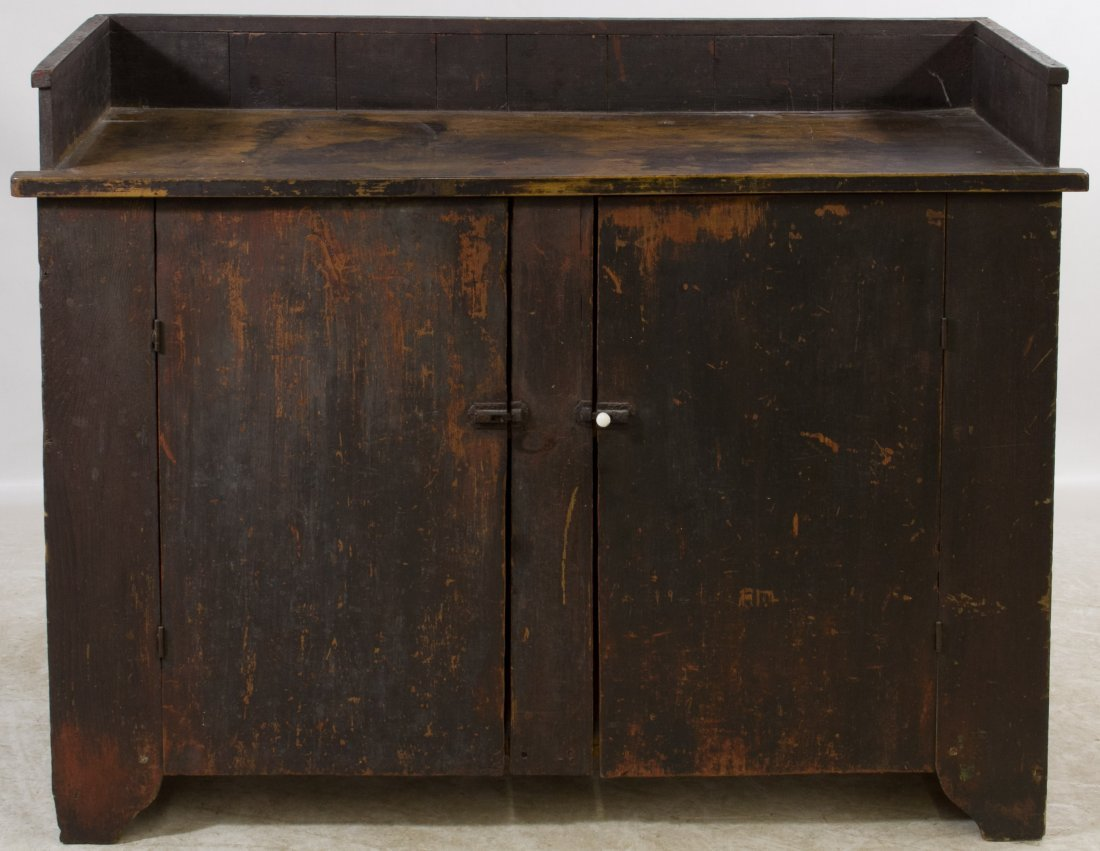 Early American Painted Dry Sink