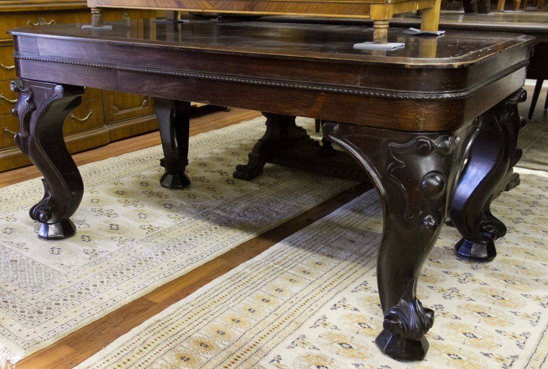 Classical Revival Style Mahogany Library Table