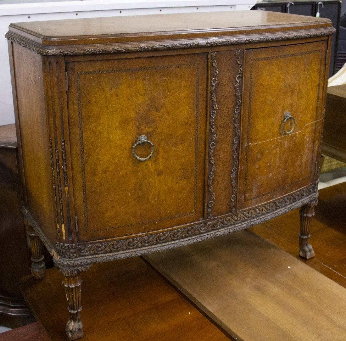 Classical Revival Style Walnut Cabinet