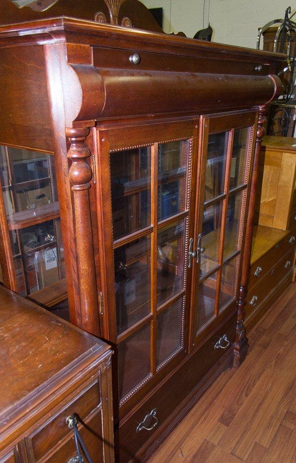 Empire Style Mahogany Display Cabinet