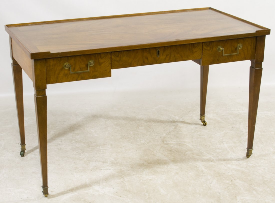 Burled Fruitwood Library Table