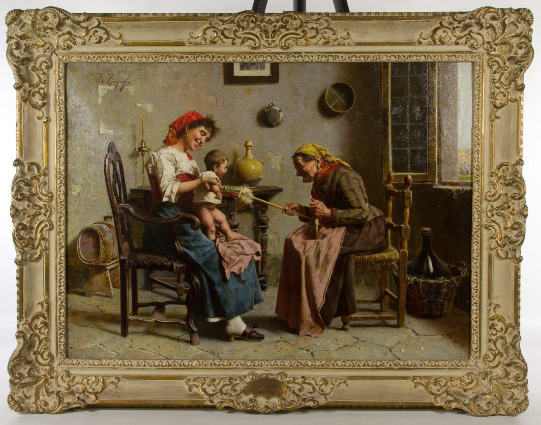 Eugenio Zampighi (Italian, 1859-1944) 'Three
