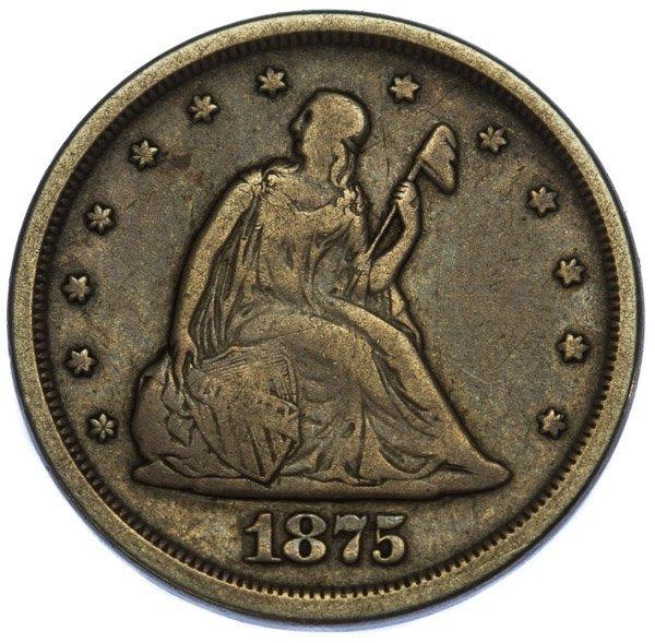 1875-S 20c F