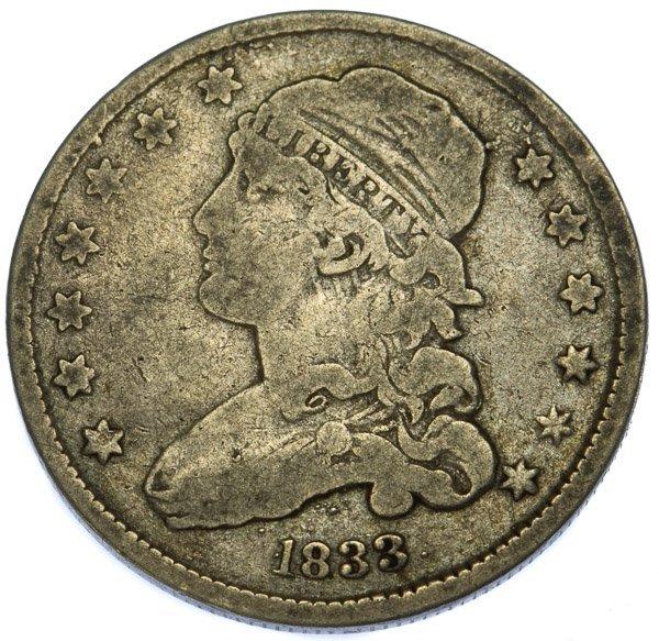 1833 25c VG