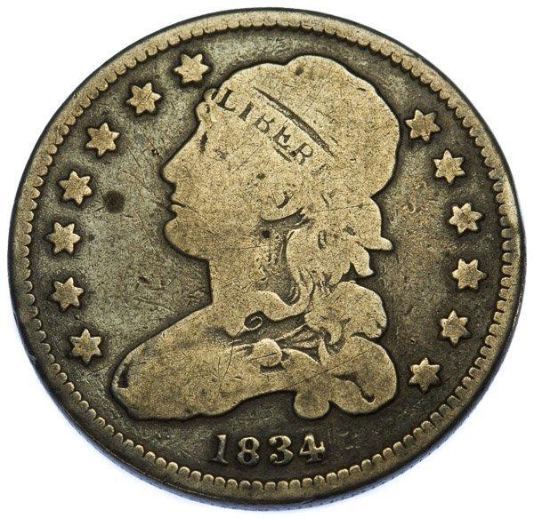 1834 25c VG