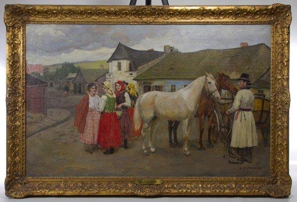 Antoni Piotrowski (Polish, 1853-1924) 'Sunday Visitors'