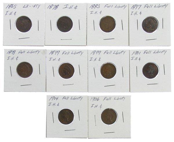 1865, 1878, 1883, 1897, 1898, 1899, 1901, 1904, 1906 1c