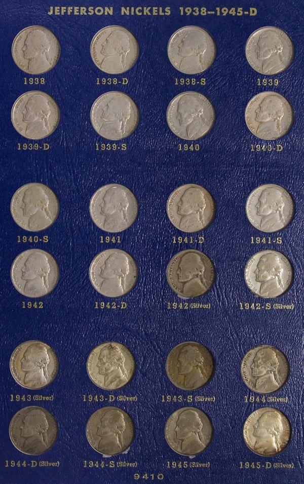 1938-1964 Jefferson 5c Set