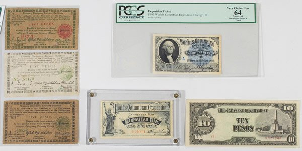 1893 Exposition Ticket MS-64 PCGS