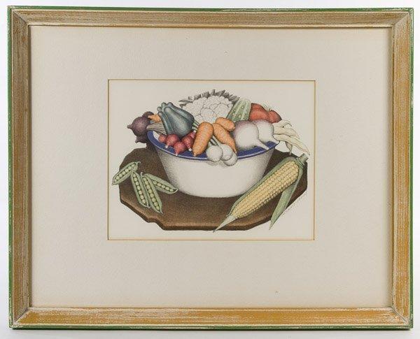Grant Wood (American, 1891-1942) 'Vegetables'