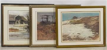 Gerhard C.F. Miller (American, 1903-2003) Landscape