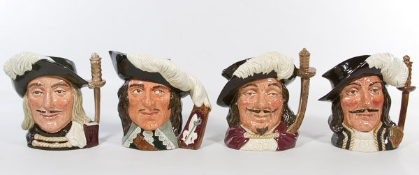 Royal Doulton 'Three Musketeers' Toby Jugs