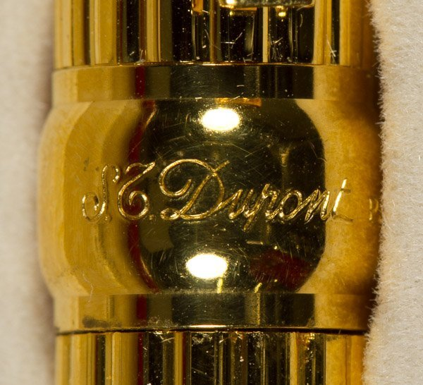 S.T. Dupont 'Gatsby' Gold Plated Ball Point Pen - 3