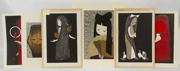 Kaoru Kawano (Japanese, 1916-1965) Print Assortment
