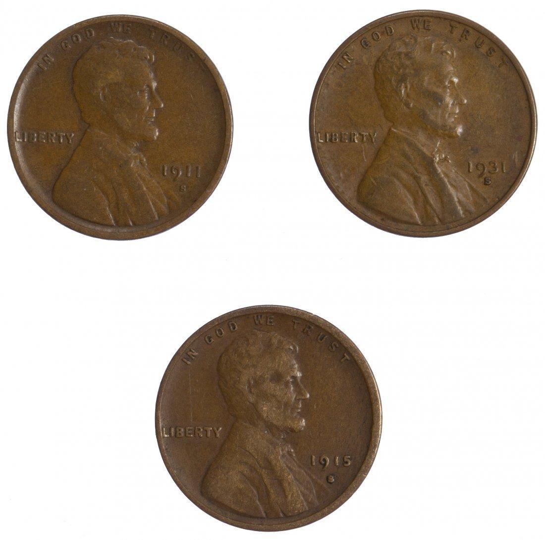 1911-S, 1915-S, 1931-S 1c F