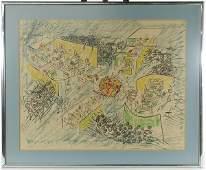 Roberto Sebastian Matta Chilean 19112002 Lithograph