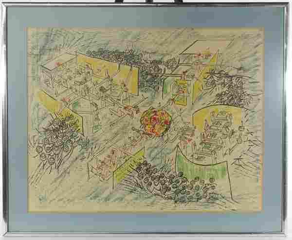 Roberto Sebastian Matta (Chilean, 1911-2002) Lithograph