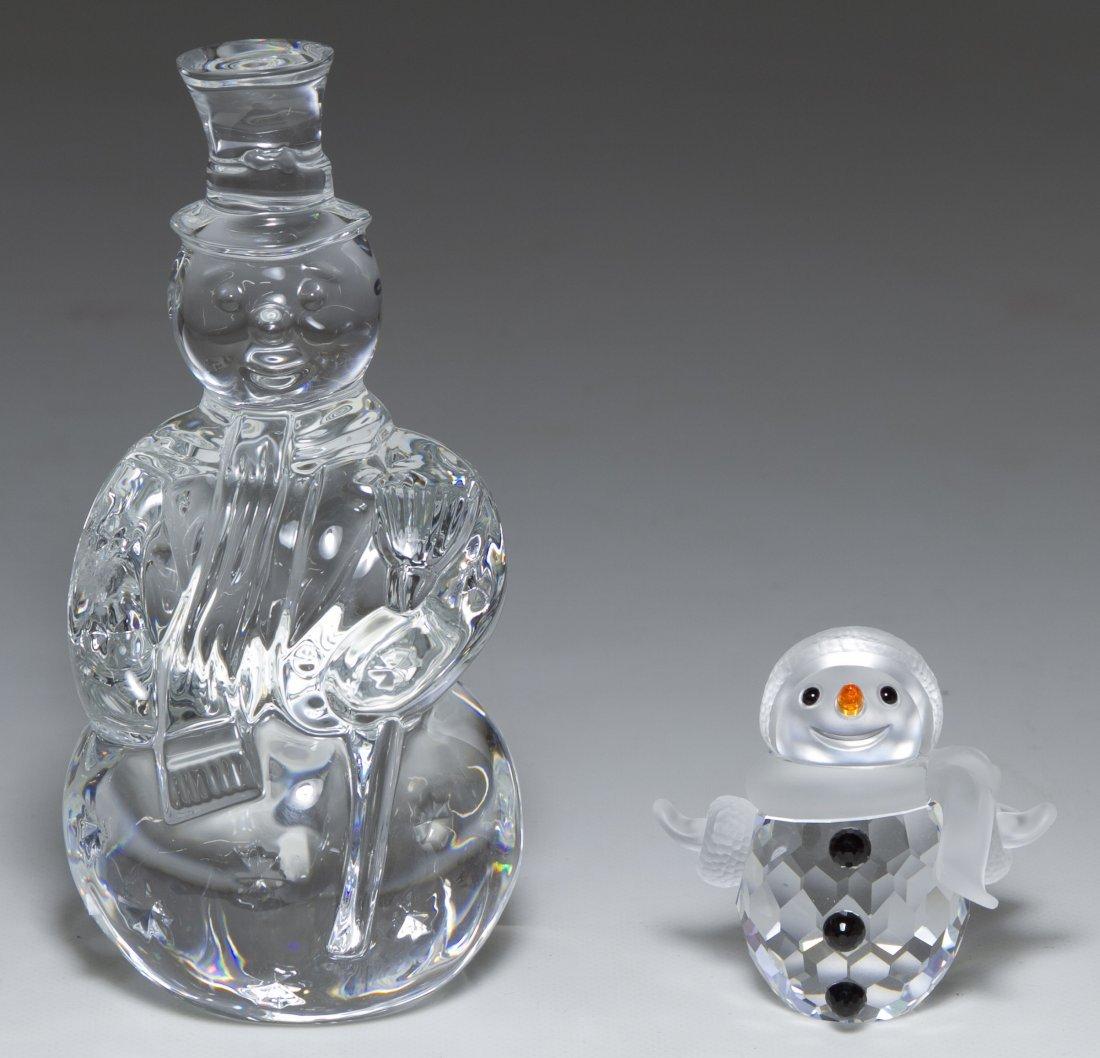 Swarovski Crystal and Waterford Crystal 'Snowman'