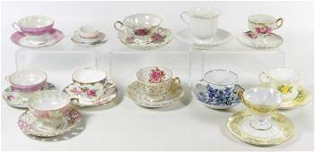 Porcelain Teacup and Saucer Assortment