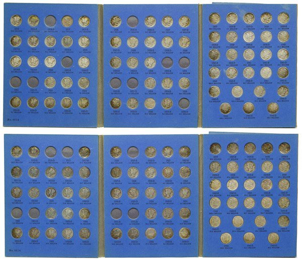 Mercury 10c Partial Sets G-VF Details