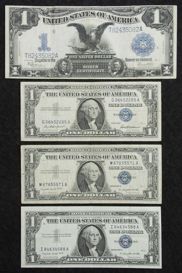 1899 $1 'Black Eagle' Silver Certificate VF