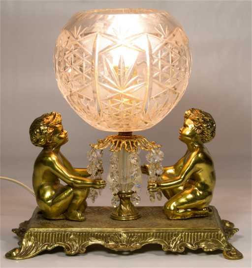 Imperlux Lead Crystal Globe Table Lamp