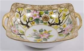 Nippon Porcelain Handled Bowl