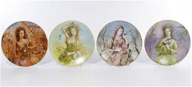 Guy Cambier Seasons Plates by DArceau Limoges