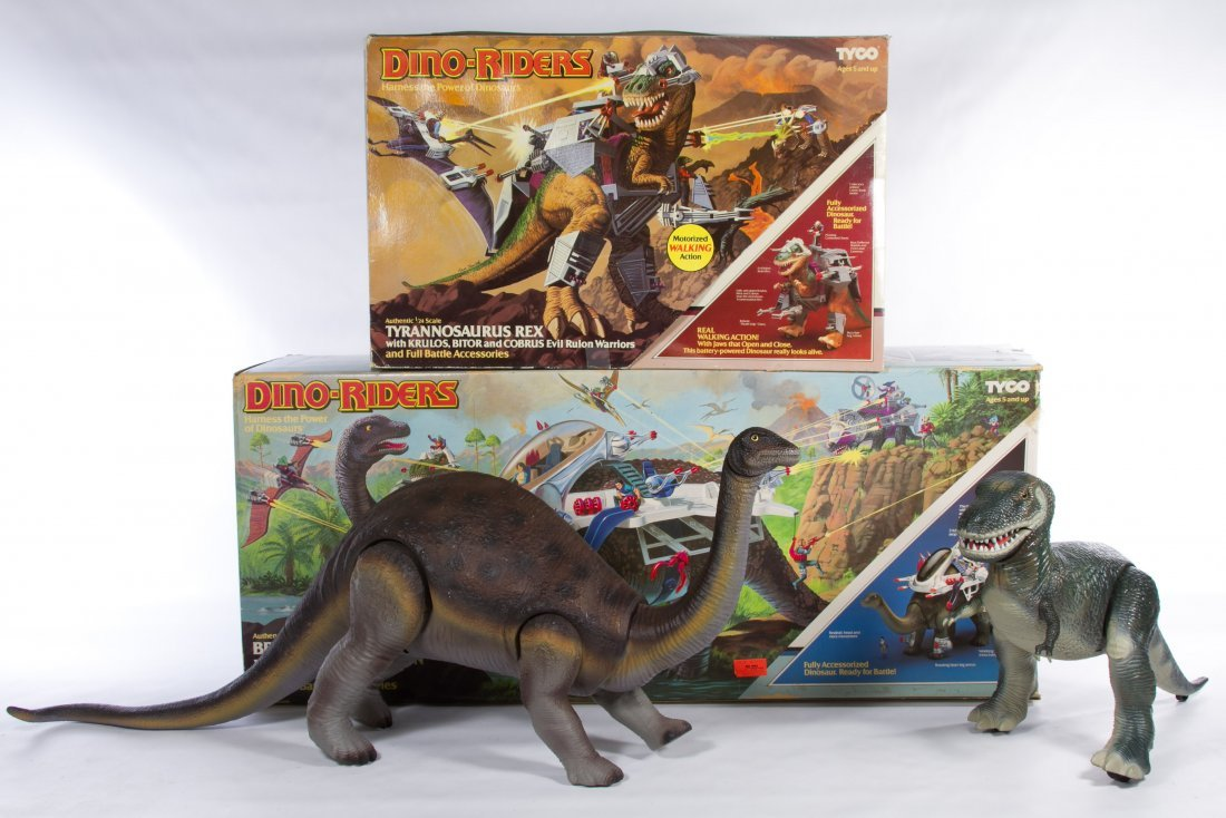 Tyco Dino-Riders 'T. Rex' and 'Brontosaurus' Action