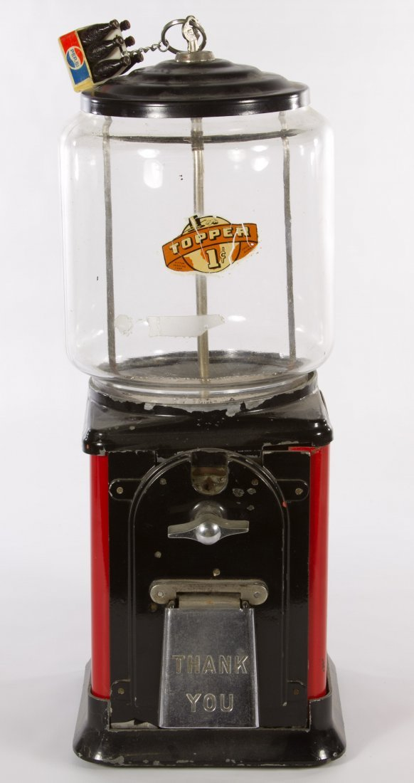 Topper One-Cent Gumball Machine by Victor Vending Corp.