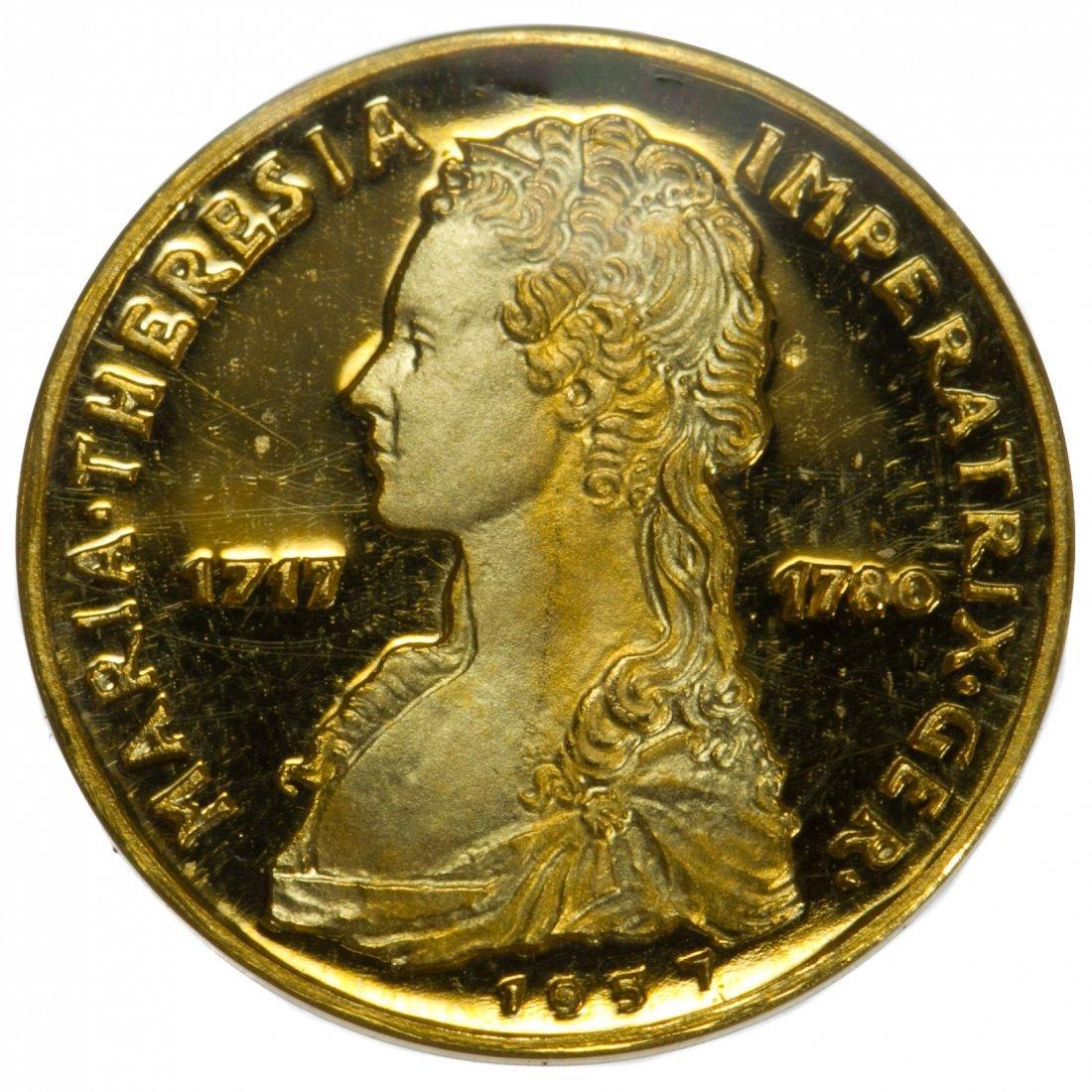 Austria: 1957 Maria Theresa 1/2 Gold Ducat Proof