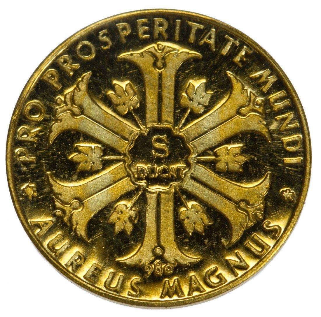 Austria: 1957 Maria Theresa 1/2 Gold Ducat Proof - 2
