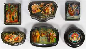 Russian Lacquer Box Assortment