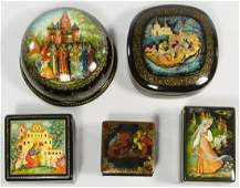 Russian Lacquer Fairy Tale Box Assortment