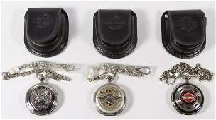Harley Davidson Pocket Watches by the Franklin Mint