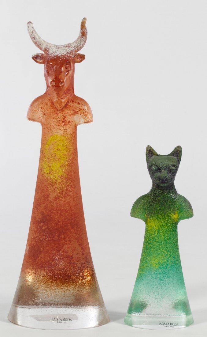 Kosta Boda Art Glass Sculptures by Kjell Engman