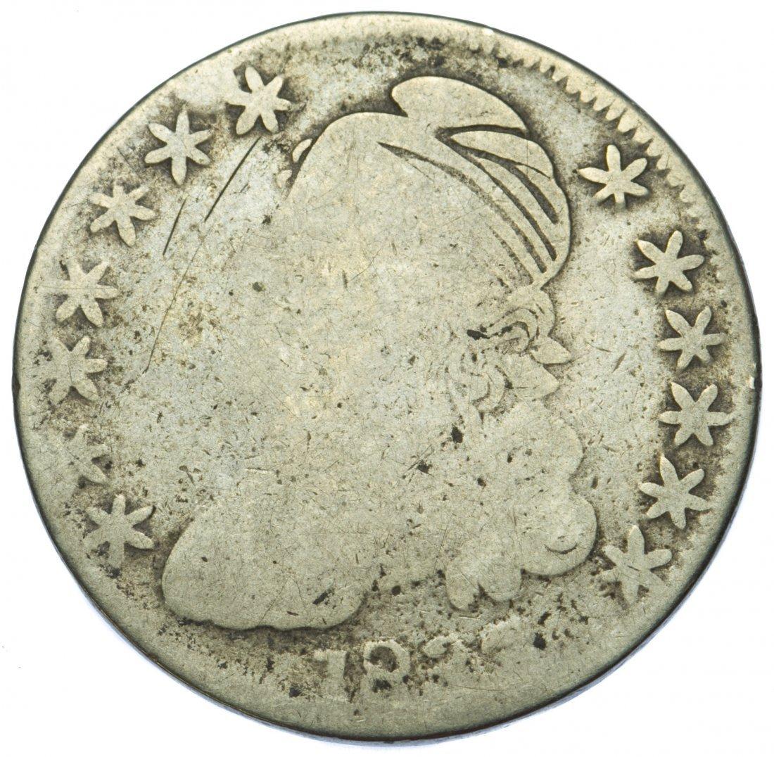 1833 Capped Bust 50c AG