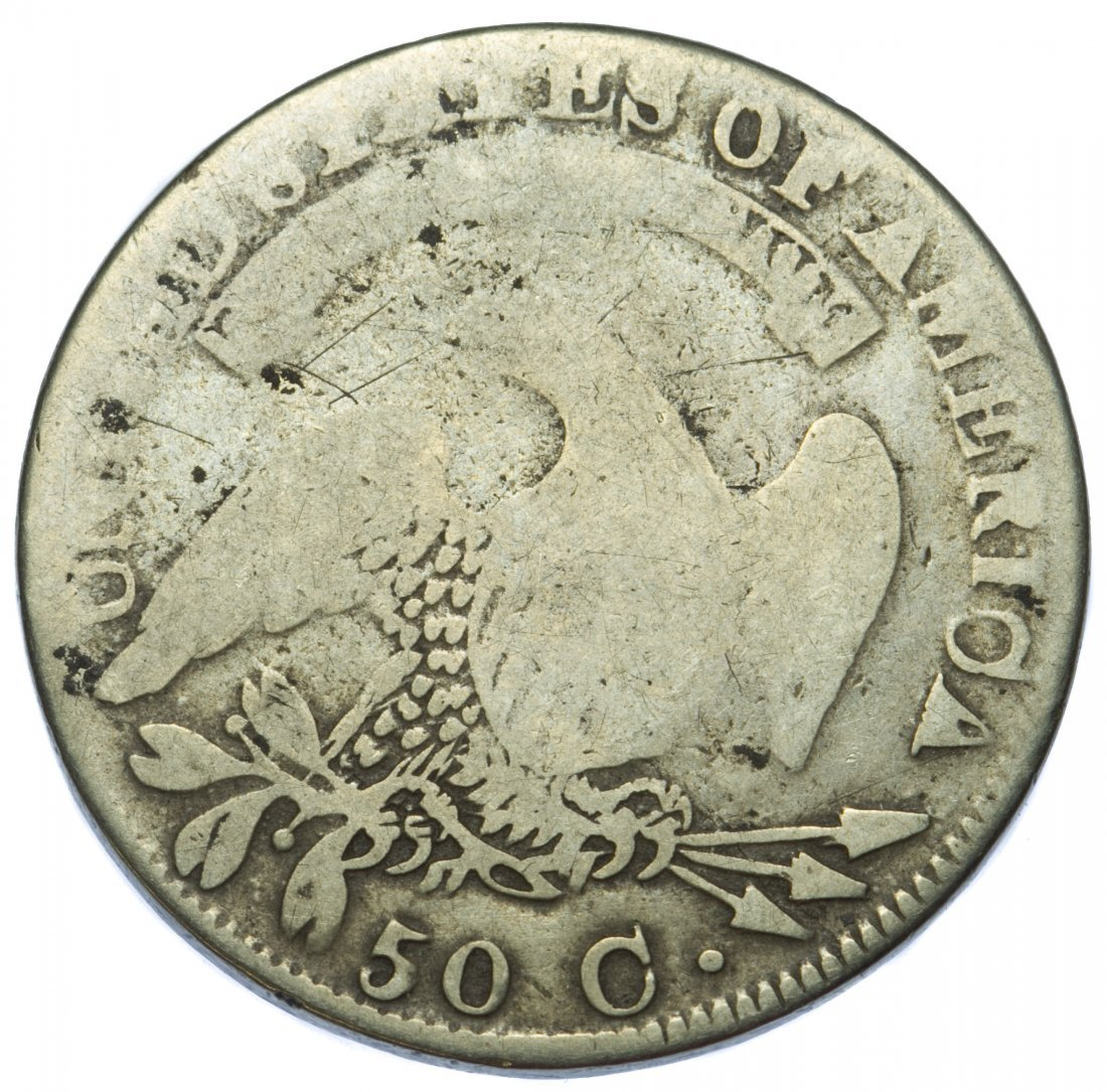 1833 Capped Bust 50c AG - 2