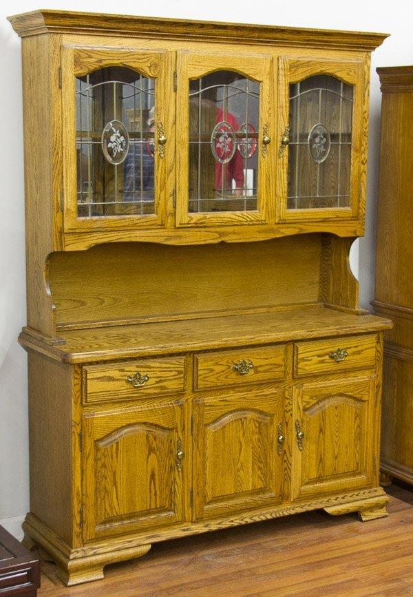 Oak China Cabinet by Kushwood