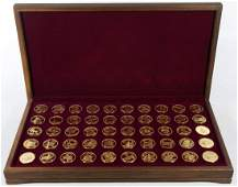 Franklin Mint Sterling Silver States of the Union Set