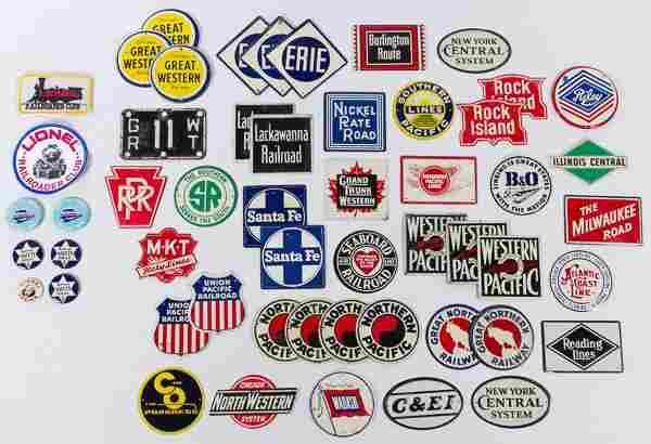 Post Cereal Tin Railroad Emblems