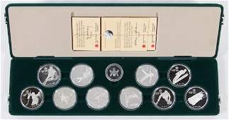 Canada Olympic Silver Proof Coin Set