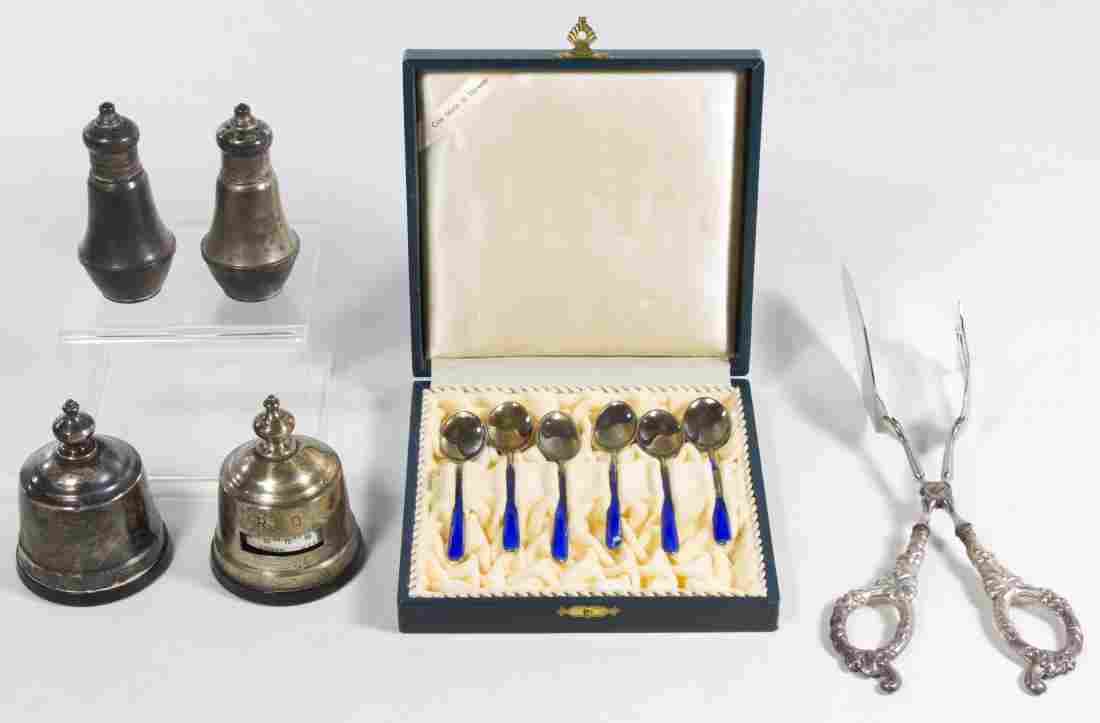 N.M. Thune Sterling Silver Enamel Spoons