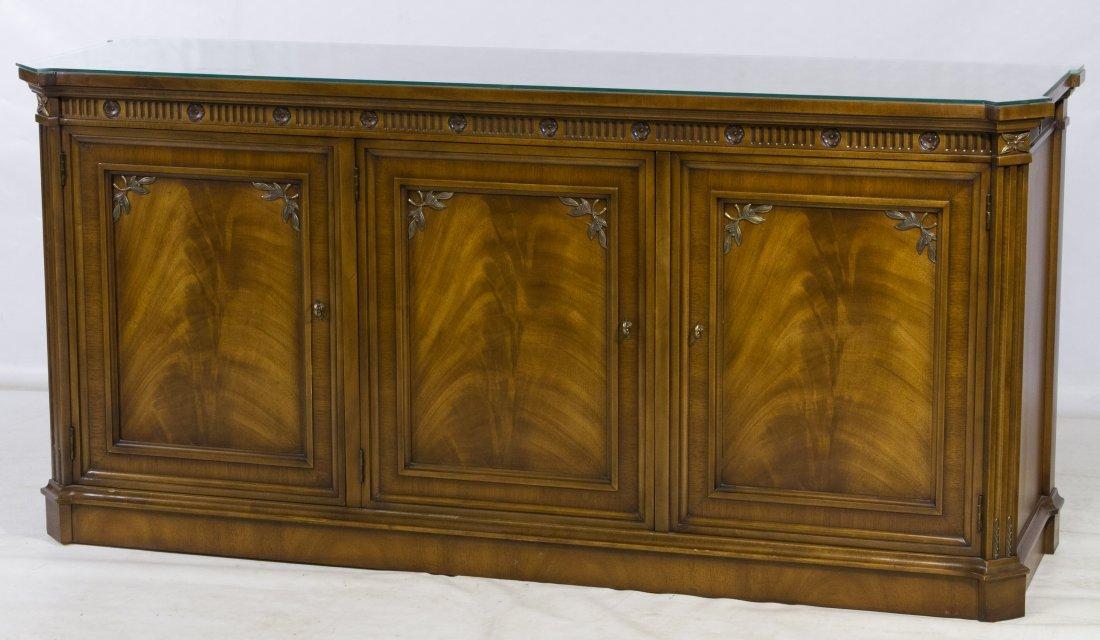 Burled Walnut Buffet by J. L. Metz Furniture Co.