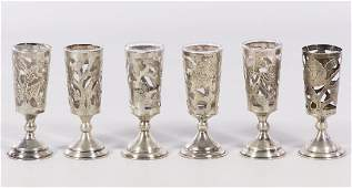 Sterling Silver Cordial Glass Holders