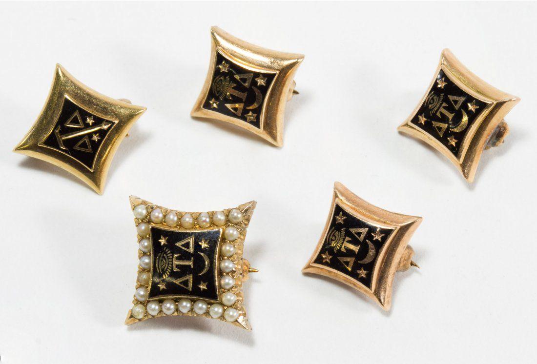 14k Gold Delta Tau Delta Fraternity Pins